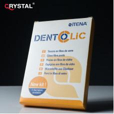 Dentoclic glass fiber Translucent 20 posts+4 drills,набор стекловолоконных штифтов.Itena
